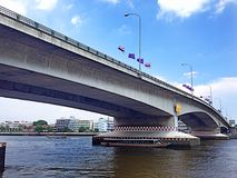 Ponte de Phrapinklao Imagem de Stock