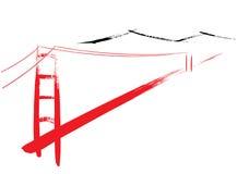 Ponte de porta dourada ilustração royalty free
