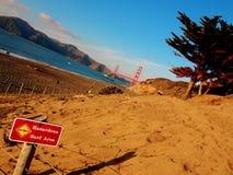 Ponte de porta dourada da praia do padeiro Foto de Stock Royalty Free