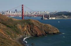 Ponte de porta dourada e San Francisco Foto de Stock Royalty Free