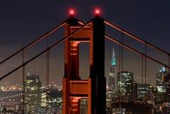 Ponte de porta dourada e SF Imagens de Stock