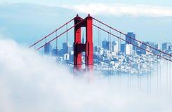 Ponte de porta dourada e SF Imagens de Stock Royalty Free