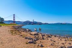Ponte de porta dourada em San Francisco, Califórnia imagens de stock royalty free