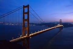Ponte de porta dourada no dask Fotografia de Stock