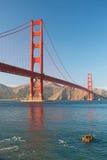 A ponte de porta dourada no por do sol de San Francisco Imagem de Stock Royalty Free