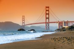 Ponte de porta dourada, San Francisco Imagem de Stock