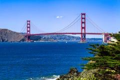 Ponte de porta dourada, San Francisco, CA Imagens de Stock