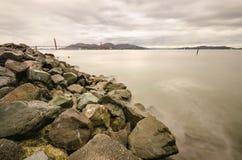 Ponte de porta dourada, San Francisco, Califórnia Foto de Stock