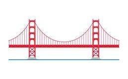 Ponte de porta dourada, San Francisco, EUA Ilustração do vetor ilustração royalty free
