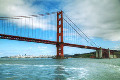 Ponte de portas douradas em San Francisco Bay Foto de Stock Royalty Free