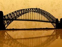 Ponte de porto de Sydney ilustração royalty free