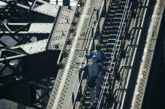 Ponte de porto de sydney da escalada Fotos de Stock Royalty Free