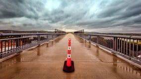 Ponte de Poughkeepsie no por do sol imagem de stock royalty free