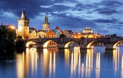 Ponte de Praga - de Charles, República Checa Foto de Stock
