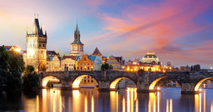 Ponte de Praga - de Charles, República Checa fotos de stock royalty free