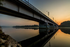 Ponte de Prienai imagem de stock