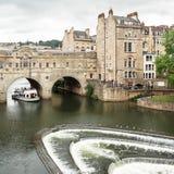 Ponte de Pulteney no banho, Somerset, Reino Unido Fotografia de Stock