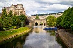 Ponte de Pulteney sobre o rio Avon, banho, Inglaterra Imagem de Stock Royalty Free