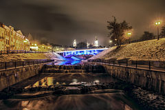 Ponte de Pushkinsky foto de stock