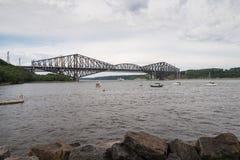 Ponte de Quebeque - a ponte de modilhão a mais longa no mundo fotografia de stock