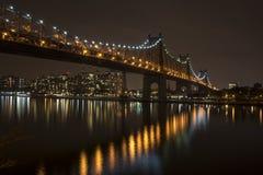 Ponte de Queensboro, igualmente conhecida como a 59th ponte da rua Imagens de Stock Royalty Free