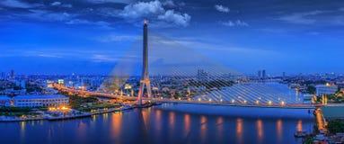 Ponte de Rama VIII Imagem de Stock