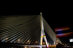 Ponte de Rama VIII Fotografia de Stock Royalty Free