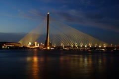 A ponte de Rama VIII Imagem de Stock Royalty Free