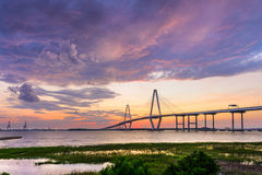 Ponte de Ravenel em Charleston Imagens de Stock Royalty Free