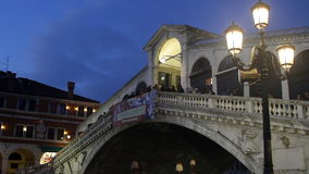 Ponte de Rialto video estoque