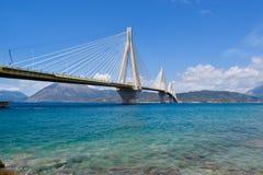 """Ponte de Rio†""""Antirrio, Grécia imagem de stock royalty free"""