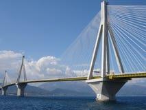 Ponte de Rio Antirio foto de stock royalty free