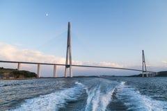 Ponte de Russkiy, Vladivostok, Rússia Foto de Stock Royalty Free