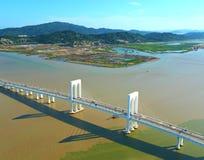 Ponte de Sai Van em Macau imagens de stock