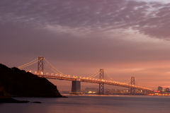 Ponte de San Francisco Bay Foto de Stock