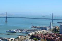 Ponte de San Francisco Bay Imagens de Stock