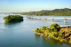 A ponte de San Juanico fotografia de stock royalty free