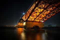 Ponte de Seongsan sobre Han River Foto de Stock