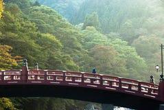 A ponte de Shinkyo de Nikko, Japão fotografia de stock