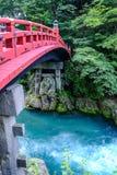 Ponte de Shinkyo em Nikko, Japão fotografia de stock royalty free