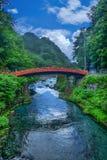Ponte de Shinkyo ou ponte sagrado em Nikko, Japão foto de stock royalty free