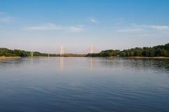 Ponte de Siekierkowski em Varsóvia Fotos de Stock Royalty Free