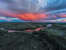 Ponte de Smaalenene em Noruega sobre o rio Glomma imagens de stock royalty free
