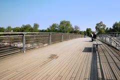 Ponte de Solferino em Paris Foto de Stock