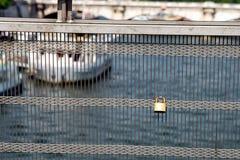 Ponte de Solferino em Paris Foto de Stock Royalty Free