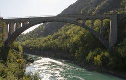 Ponte de Solkan Imagem de Stock Royalty Free