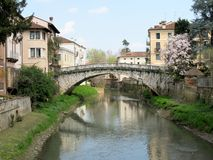 Ponte de St Michael em Vicenza Imagens de Stock Royalty Free