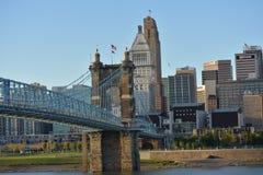 A ponte de suspensão Imagem de Stock Royalty Free