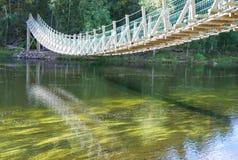 Ponte de suspensão fotografia de stock