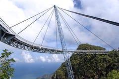 Ponte de suspensão curvada foto de stock royalty free